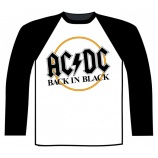 AC/DC - BACK IN BLACK BASEBALL SHIRT